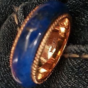 14k gold lapis ring